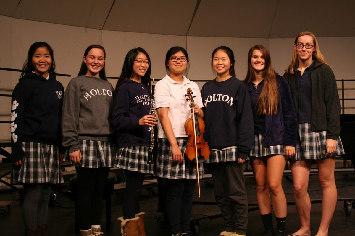 Seven Holton Students Named Maryland All State Musicians