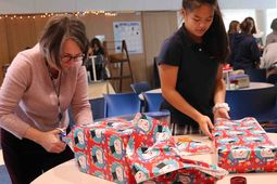 Middle Schoolers Donate Holiday Gifts for 11 Families Through Dwelling Place's Adopt-a-Family Program