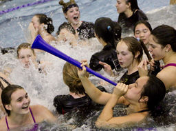 Varsity Swimming & Diving Claims Third Straight ISL Championship Title