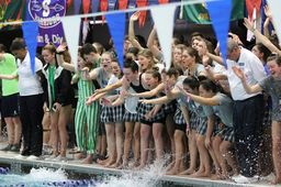 Swimming & Diving Makes History, Winning First METROs Title and Sweeping Championships!