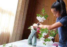 Ikebana Japanese Floral Arrangement Project Has Advanced Ceramics Classes Branching Out