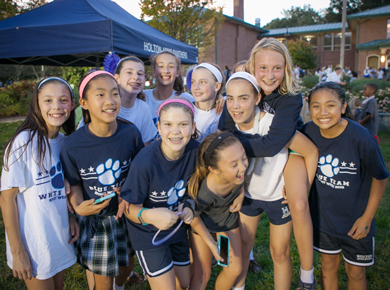 Lower School student enjoy Blue White Night