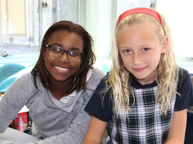 Two Holton Students in the classroom