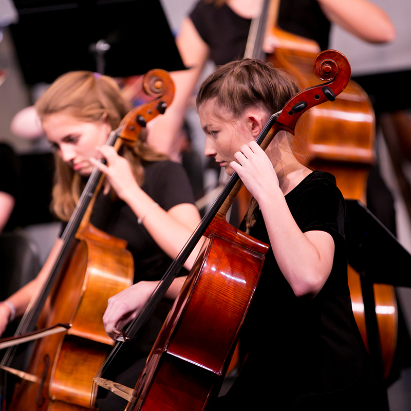 US Students performing at Winter Instrumental music concert